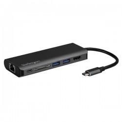 StarTech.com - Docking Station para Ordenadores Portátiles USB-C - Replicador de Puertos USB Tipo C HDMI Red Ethernet Lector SD