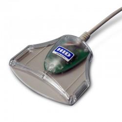 HID Identity - OMNIKEY 3021 Interior USB 2.0 Gris, Transparente lector de tarjeta inteligente
