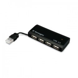 Kensington - Mini Pocket Hub USB de 4 puertos