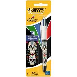 BIC - 931881 Bolígrafo retráctil con clip Negro, Azul, Verde, Rojo 1pieza(s) bolígrafo de punta redonda