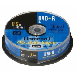 Intenso - DVD+R 8.5GB, DL, 8x 8.5GB DVD+R 10pieza(s)