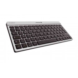 CHERRY - KW 6000 Bluetooth AZERTY Español Plata teclado para móvil