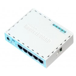Mikrotik - RB750GR3 router Gigabit Ethernet Turquesa, Blanco