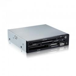 """TooQ - LECTOR DE TARJETAS 3,5"""" 8 SLOTS (DNIe+SIM) 1 X USB NEGRO"""