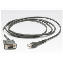 Zebra - RS232 Cable cable de serie Grey 2.1 m