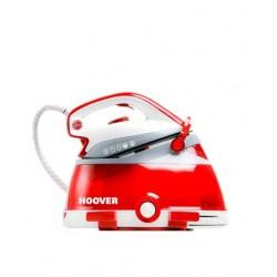 Hoover - PRP2400 2400W 2L Suela de cerámica Rojo, Color blanco estación plancha al vapor