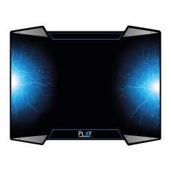 Ewent - PL3340 alfombrilla para ratón Negro, Azul, Plata Alfombrilla de ratón para juegos