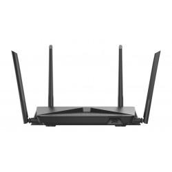 D-Link - EXO AC2600 MU-MIMO router inalámbrico Doble banda (2,4 GHz / 5 GHz) Gigabit Ethernet Negro