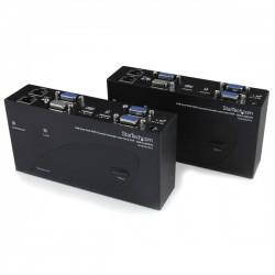 StarTech.com - Extensor de Consola KVM por Cat 5 Ethernet (200m) con USB y Vídeo VGA Doble
