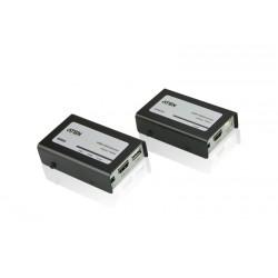 Aten - VE803 AV transmitter & receiver Negro, Gris extensor audio/video