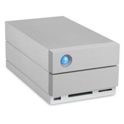 LaCie - 2big Dock Thunderbolt 3 unidad de disco multiple 20 TB Escritorio Gris