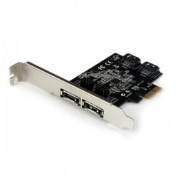 StarTech.com - Tarjeta Adaptadora Controladora PCI Express PCIe 2 Puertos eSATA 2 Puertos SATA - SATA III - 6Gbps