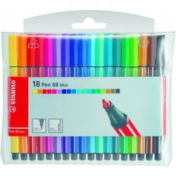 STABILO - Pen 68 Mini rotulador Rojo 1 pieza(s)