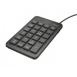 Trust - 22221 Portátil/PC USB Negro teclado numérico