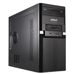Differo - OR1639182 3.9GHz i3-7100 Mini Tower Negro PC PC