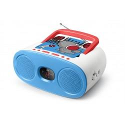 Muse - M-20 KDB sistema estéreo portátil Analógica Azul, Rojo, Blanco