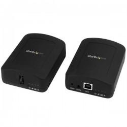 StarTech.com - Juego Extensor de 1 Puerto USB 2.0 por Cable de Red Ethernet Cat5 o Cat6 UTP - Alargador Alimentado
