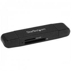 StarTech.com - Lector Grabador USB 3.0 USB-C Tipo C y USB-A de Tarjetas de Memoria Flash SD Micro SD Alimentado por USB