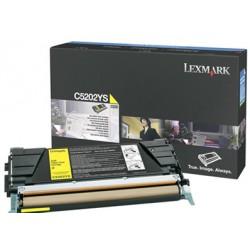 Lexmark - C5202YS Cartucho de tóner 1500páginas Amarillo cartucho de tóner