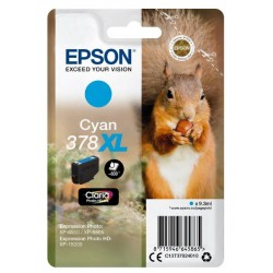 Epson - Squirrel Singlepack Cyan 378XL Claria Photo HD Ink