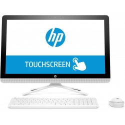 """HP - 24 -e014ns 2.4GHz A9-9400 23.8"""" 1920 x 1080Pixeles Pantalla táctil Blanco PC todo en uno"""