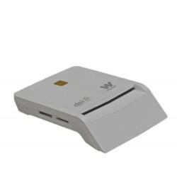 Woxter - PE26-147 Interior USB 2.0 Blanco lector de tarjeta inteligente