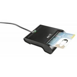 Trust - DNIe Interior USB 2.0 Negro lector de tarjeta inteligente