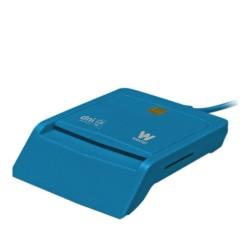 Woxter - PE26-146 lector de tarjeta inteligente Interior Azul USB 2.0