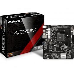 Asrock - A320M AMD A320 Zócalo AM4 Micro ATX