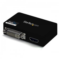 StarTech.com - Adaptador de Vídeo Externo USB 3.0 a HDMI y DVI - Tarjeta Gráfica Externa Cable Dual Head - 2048x115