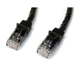 StarTech.com - Cable de Red Ethernet Snagless Sin Enganches Cat 6 Cat6 Gigabit 15m - Negro