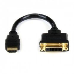 StarTech.com - Adaptador de 20cm HDMI a DVI - DVI-D Hembra - HDMI Macho - Cable Conversor de Vídeo - Negro