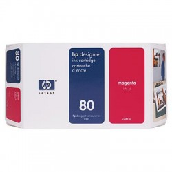 HP - Cartucho de tinta DesignJet 80 magenta de 350 ml