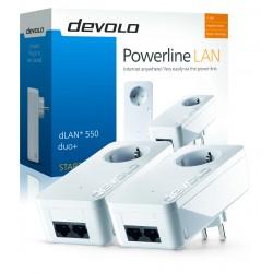 Devolo - dLAN 550 duo+ Starter Kit PLC 500 Mbit/s Ethernet Blanco 2 pieza(s)