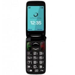 """Brigmton - BTM-3 Flip 2.4"""" 92g Negro Teléfono para personas mayores"""