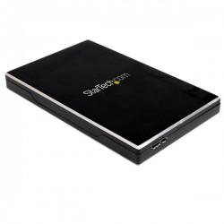 "StarTech.com - Caja de Disco Duro HDD 2,5"" SATA externo USB 3.0 Super Speed - Negro Aluminio"