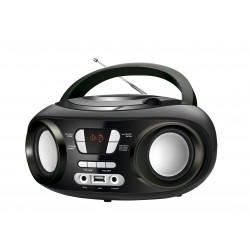 Brigmton - W-501-N Digital 6W Negro, Gris Radio CD