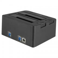 Sharkoon - SATA QuickPort Duo USB3.0 USB 3.0 (3.1 Gen 1) Type-B Negro