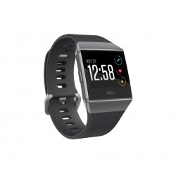 "Fitbit - Ionic 1.42"" LCD GPS (satélite) Gris reloj inteligente"