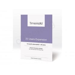 Safescan - Pack Expansión para 25 usuarios en nube (anual) TM-UEP-25 139-0592