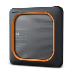 Western Digital - My Passport Wireless 2000 GB Wifi Negro, Naranja