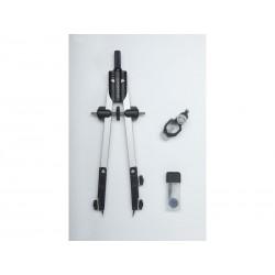 Faber-Castell - FABER CASTELL Compás ajuste rápido con tornillo central y articulaciones en ambos brazos 32722-8