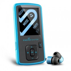 Energy Sistem - 422883 Reproductor de MP4 8GB Negro, Azul reproductor MP3/MP4