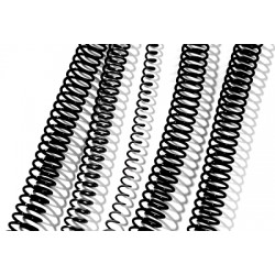 GBC - Espiral Plástico 6mm Negro (Caja 100)