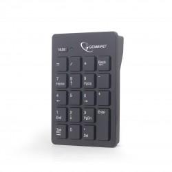 Gembird - KPD-W-01 Portátil/PC RF inalámbrico Negro teclado numérico