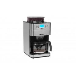 MEDION - MD 16893 Independiente Cafetera de filtro Negro, Plata, Acero inoxidable 1,25 L 10 tazas Totalmente automá