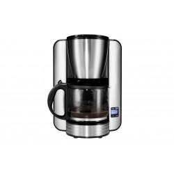 MEDION - MD 16230 Independiente Cafetera de filtro 1.5L 12tazas Negro, Acero inoxidable