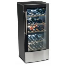 MEDION - Vinoteca, refrigerador de vino, 59 botellas, LED, dos zonas, bandejas de madera