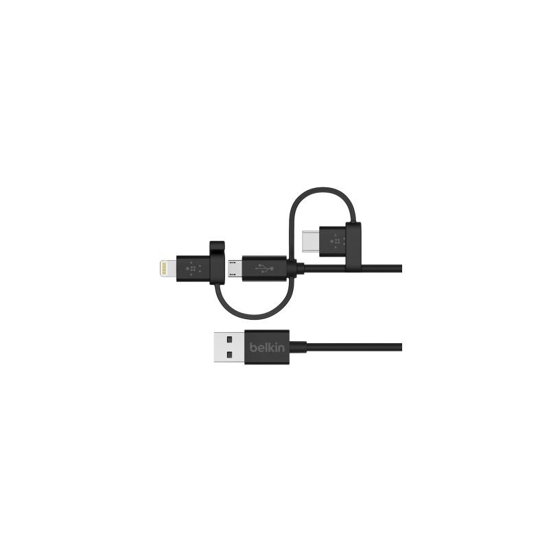 3a811504d Belkin - F8J050bt04-BLK cable de teléfono móvil USB A Micro USB/USB ...