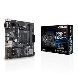 ASUS - PRIME B450M-K placa base Zócalo AM4 Micro ATX AMD B450